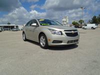 This beautiful 1-owner 2014 Chevrolet Cruze LT has less