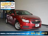 New Price! 2014 Crystal Red Tintcoat Chevrolet Cruze