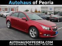 New Price! 2014 Chevrolet Cruze 2LT Red Hot Clean