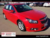 Options:  2014 Chevrolet Cruze 2Lt|Red|Clean
