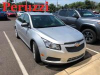 Clean CARFAX. Silver Ice Metallic 2014 Chevrolet Cruze