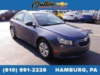 CARFAX One-Owner. 2014 Chevrolet Cruze LS 4D Sedan Blue