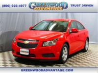 One owner! Red Hot 2014 Chevrolet Cruze 1LT featuring