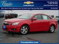 Recent Arrival! Certified. Red Hot 2014 Chevrolet Cruze
