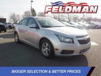 Clean CARFAX. Chevrolet Cruze 2014 Silver Ice Metallic