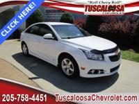 This 2014 Chevrolet Cruze 1LT in White features: ECOTEC