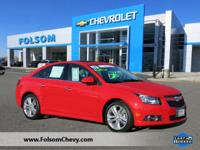 CarFax One Owner! This Cruze is CERTIFIED! This 2014