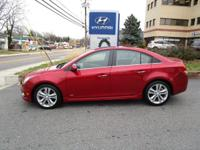 Clean CARFAX. Crystal Red Tintcoat 2014 Chevrolet Cruze