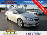 This 2014 Chevrolet Cruze LTZ in Silver Ice Metallic is
