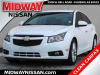 Just Reduced!2014 Chevrolet Cruze LTZ Summit White
