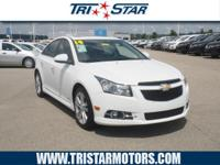 This 2014 Chevrolet Cruze LTZ boasts features like a
