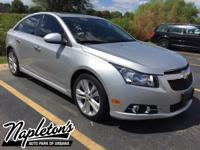 Recent Arrival! 2014 Chevrolet Cruze in Silver, AUX
