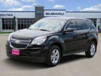 CARFAX One-Owner. Black 2014 Chevrolet Equinox LS FWD