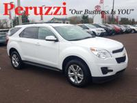 Clean CARFAX. Summit White 2014 Chevrolet Equinox LT