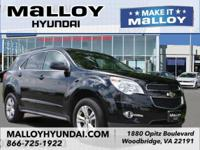 Clean CARFAX. Black 2014 Chevrolet Equinox LT 2LT AWD