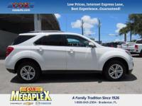 This 2014 Chevrolet Equinox LT in White is well