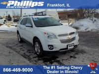 New Price! Summit White 2014 Chevrolet Equinox LTZ FWD