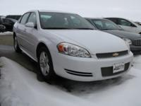 BEAUTIFUL WHITE AND RIGHT IMPALA WITH LEATHER INTERIOR,