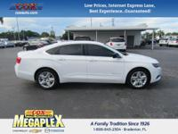 This 2014 Chevrolet Impala LS in Summit White is well