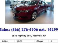 2014 CHEVROLET IMPALA SEDAN 4 DOOR LTZ Our Location is: