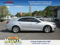 This 2014 Chevrolet Malibu LS in Silver Ice Metallic is