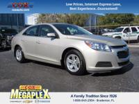 This 2014 Chevrolet Malibu LT in Gold is well equipped