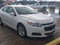 Certified. Summit White 2014 Chevrolet Malibu LT 1LT