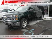 Green 2014 Chevrolet Silverado 1500 LT LT1 4WD 6-Speed