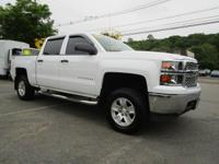 Clean CARFAX. Summit White 2014 Chevrolet Silverado