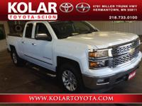 2014 Silverado 1500 LT, 4D Double Cab, 4WD, and New
