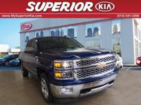 CARFAX One-Owner. Blue 2014 Chevrolet Silverado 1500