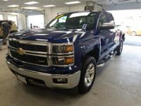 This 2014 Chevrolet Silverado 1500 LTZ in blue topaz