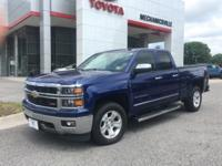 This 2014 Chevrolet Silverado 1500 in blue topaz