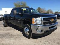 Certified. Black 2014 Chevrolet Silverado 3500HD LTZ