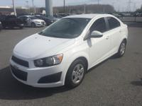 Sonic LS, GM Certified, 4D Sedan, FWD, Summit White,
