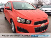 Just Reduced!  Chevrolet Sonic  Clean CARFAX. CARFAX