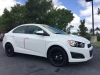 Clean CARFAX. Summit White 2014 Chevrolet Sonic LT FWD