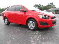 Certified. Red 2014 Chevrolet Sonic LT FWD 6-Speed