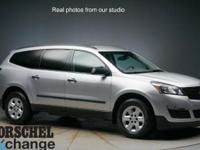AWD!!Silver 2014 Chevrolet Traverse LSAWD. CARFAX