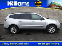 Options:  2014 Chevrolet Traverse Ls|Silver|Touch