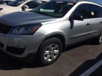 Certified. This 2014 Chevrolet Traverse in Silver Ice