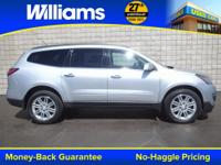 Options:  2014 Chevrolet Traverse Lt|Silver|One Owner.