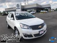 Recent Arrival! 2014 Chevrolet Traverse in White, AUX