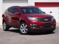Certified. 2014 Chevrolet Traverse LTZ Crystal Red