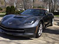 Chevy 2014 Stingray Corvette Convertible 2 Dr. Grey