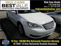 Recent Arrival! White 2014 Chrysler 200 Touring FWD