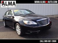 Options:  2014 Chrysler 200 Limited|Black|Clean