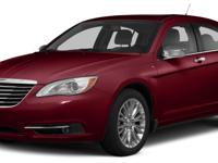 Options:  2014 Chrysler 200 Lx|Recent Arrival!Air