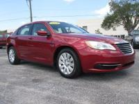 Red 2014 Chrysler 200 LX FWD 6-Speed Automatic 2.4L