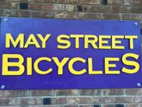 May Street Bicycles is having its close out sale on all